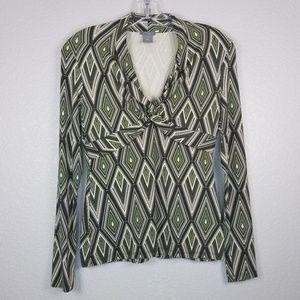 Ann Taylor long sleeve v-neck shirt